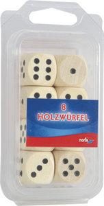Noris 606151040 - Würfel aus Holz, natur