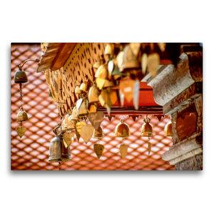 Premium Textil-Leinwand 75 cm x 50 cm quer Herzglocken im Kloste