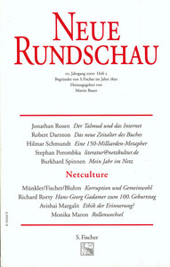 Neue Rundschau 2000/2. Netculture