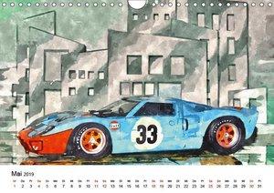 Cars\'n\'Arts - Digital Artwork von Jean-Louis Glineur (Wandkale