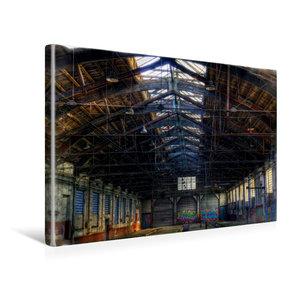 Premium Textil-Leinwand 45 cm x 30 cm quer Güterwagenreparaturha