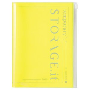 MARK\'S 2019 Taschenkalender A5 vertikal, Storage.it Neon yellow