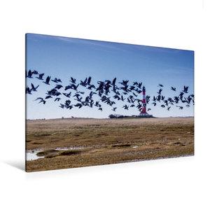 Premium Textil-Leinwand 120 cm x 80 cm quer Leuchtturm Westerhev