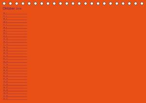 Bastel-Geburtstagskalender orange / Geburtstagskalender