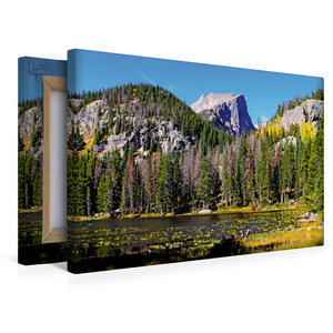 Premium Textil-Leinwand 45 cm x 30 cm quer Rocky Mountain Nation