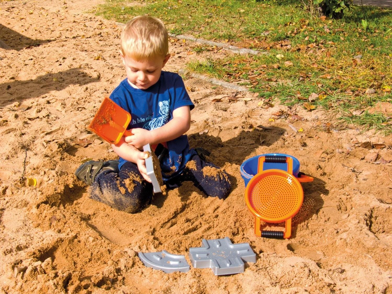 Simm 05442 - Lena: Sandset Straßenbau blau/orange, 7tlg. - zum Schließen ins Bild klicken