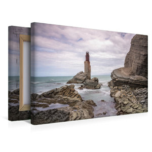Premium Textil-Leinwand 45 cm x 30 cm quer Tuahine Lighthouse