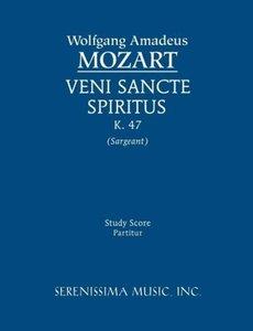 Veni Sancte Spiritus, K. 47 - Study Score