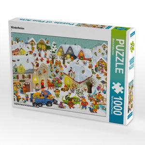 Winterferien 1000 Teile Puzzle quer