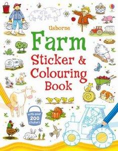 Farm Sticker and Colouring Book