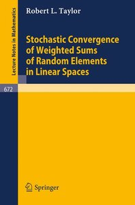 Stochastic Convergence of Weighted Sums of Random Elements in Li
