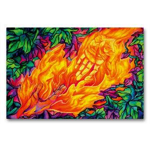 Premium Textil-Leinwand 90 cm x 60 cm quer Flammen des Lebens
