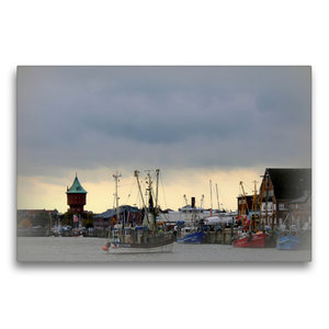 Premium Textil-Leinwand 75 cm x 50 cm quer Alter Fischereihafen