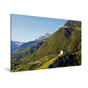 Premium Textil-Leinwand 120 cm x 80 cm quer Schloss Tirol