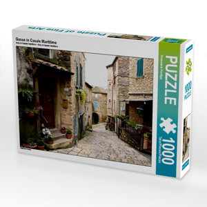 Gasse in Casale Marittimo 1000 Teile Puzzle quer