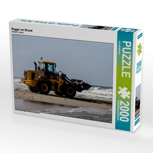 Bagger am Strand 2000 Teile Puzzle quer