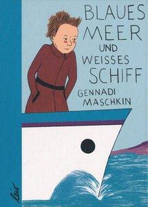 Weisses Schiff und blaues Meer