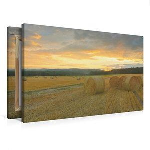 Premium Textil-Leinwand 75 cm x 50 cm quer Harmonie - Strohballe