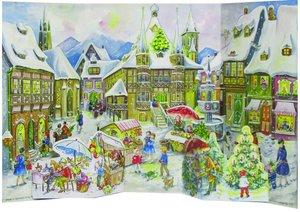 """Adventskalender \""""Weihnachtlicher Marktplatz\"""""""