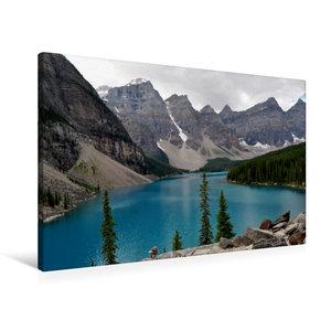 Premium Textil-Leinwand 90 cm x 60 cm quer Moraine Lake, Kanada