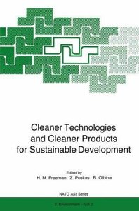 Cleaner Technologies and Cleaner Products for Sustainable Develo