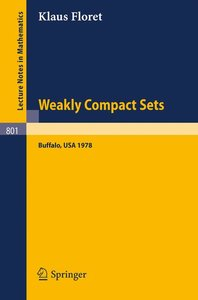 Weakly Compact Sets