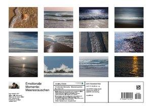 Emotionale Momente: Meeresrauschen (Posterbuch DIN A3 quer)