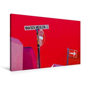 Premium Textil-Leinwand 90 cm x 60 cm quer Straßenschilder in Bo