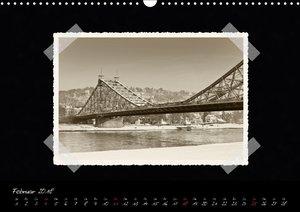 Dresden - Ein Kalender mit Fotografien wie aus einem alten Fotoa