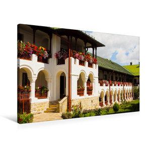 Premium Textil-Leinwand 90 cm x 60 cm quer Kloster Agapia