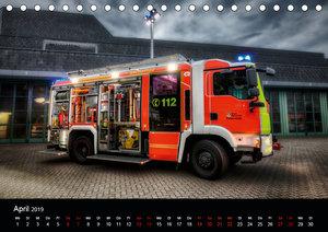 Feuerwehr und Rettungsdienst (Tischkalender 2019 DIN A5 quer)