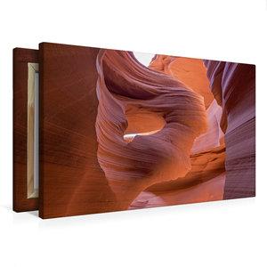 Premium Textil-Leinwand 75 cm x 50 cm quer Lower Antelope Canyon