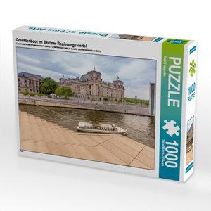 CALVENDO Puzzle Grachtenboot im Berliner Regierungsviertel 1000