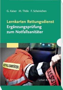 Lernkarten Rettungsdienst - Ergänzungsprüfung zum Notfallsanität