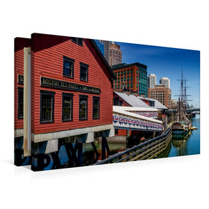 Premium Textil-Leinwand 90 cm x 60 cm quer Boston Tea Party Muse