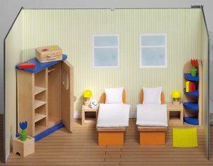 Goki 51745 - Puppenmöbel Schlafzimmer