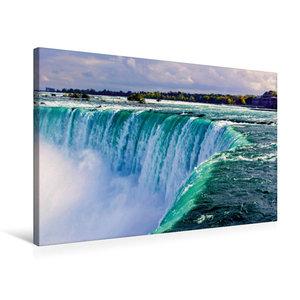 Premium Textil-Leinwand 75 cm x 50 cm quer Niagara falls