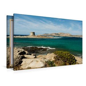 Premium Textil-Leinwand 120 cm x 80 cm quer Türkise Bucht