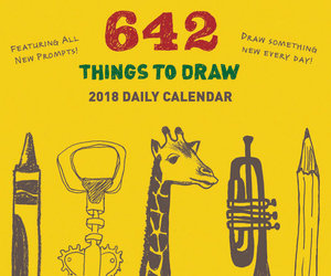 642 Things to Draw Daily Calendar 2018