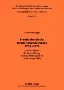 Brandenburgische Kirchenbuchduplikate 1794-1874