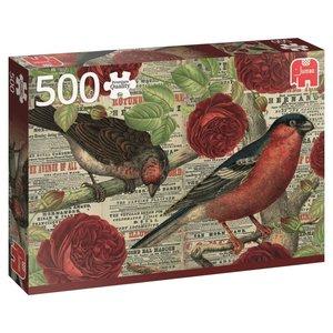 Vögel lieben Blumen - 500 Teile Puzzle