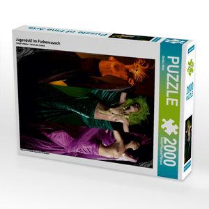 Jugendstil im Farbenrausch 2000 Teile Puzzle hoch