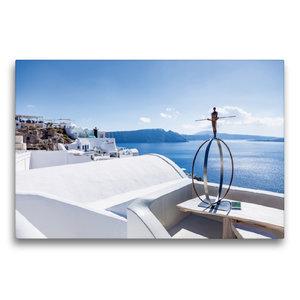 Premium Textil-Leinwand 75 cm x 50 cm quer Skulptur am Meer