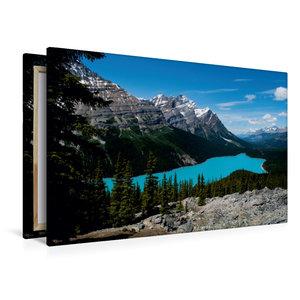 Premium Textil-Leinwand 120 cm x 80 cm quer Peyto Lake