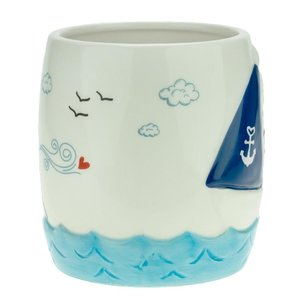 Figuren-Tasse Boot maritim \'Ich will Meer\'