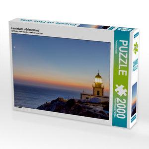 Leuchturm - Griecheland 2000 Teile Puzzle quer
