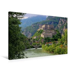 Premium Textil-Leinwand 90 cm x 60 cm quer Forte di Bard