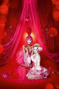 Premium Textil-Leinwand 50 cm x 75 cm hoch Kim Cruz & Amelia