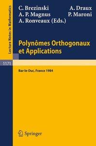 Polynomes Orthogonaux et Applications