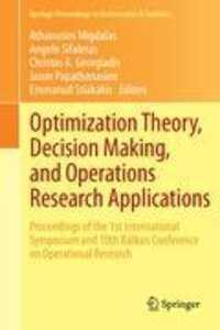 Optimization Theory, Decision Making, and Operations Research Ap